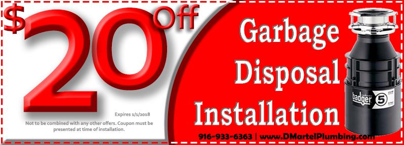 Discount Garbage Disposal Installation