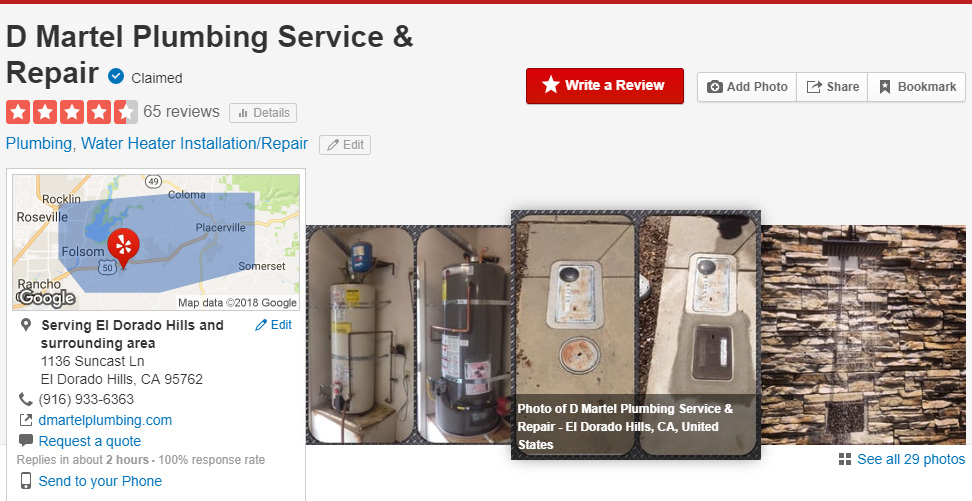 d martel plumbing reviews yelp