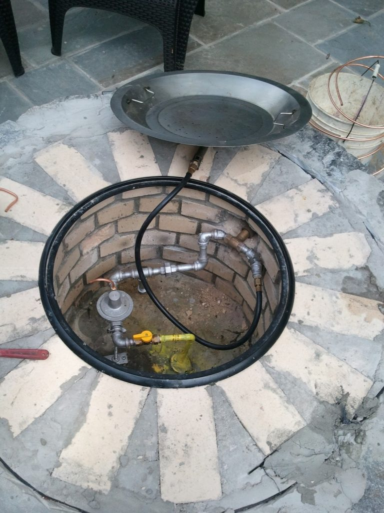 fire pit installation