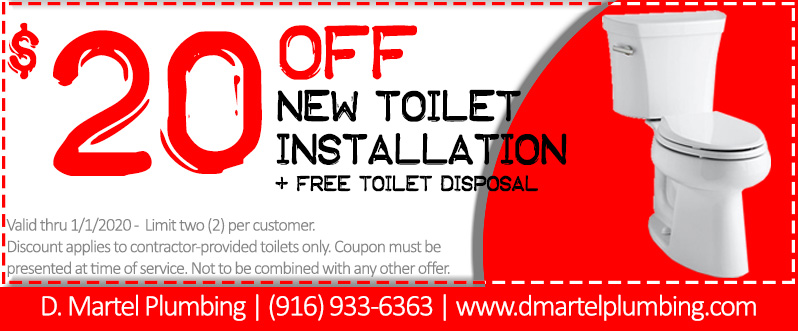 20 off toilet installation coupon