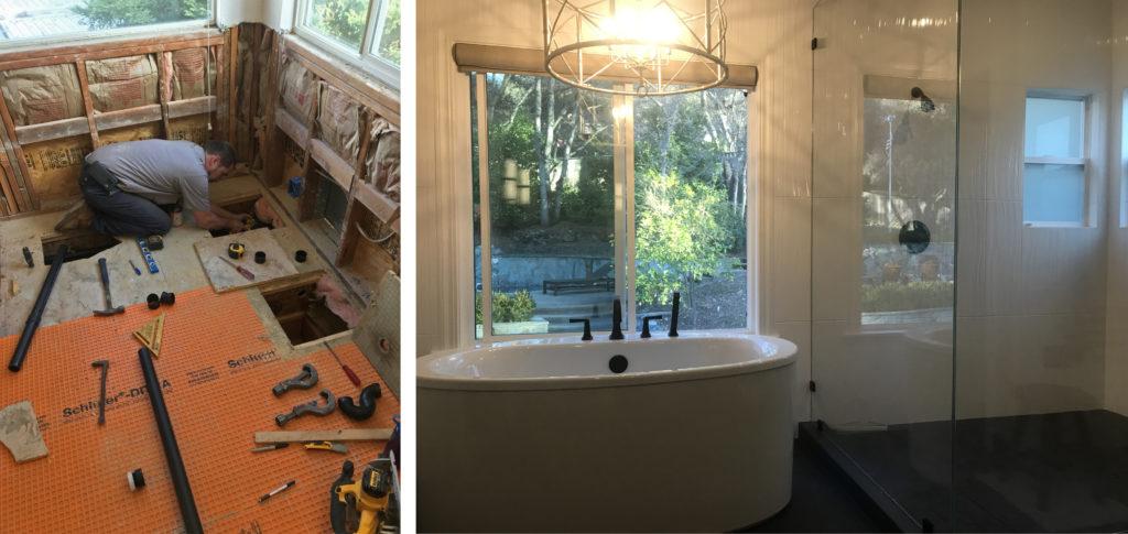 d martel plumbing bathroom remodel 1