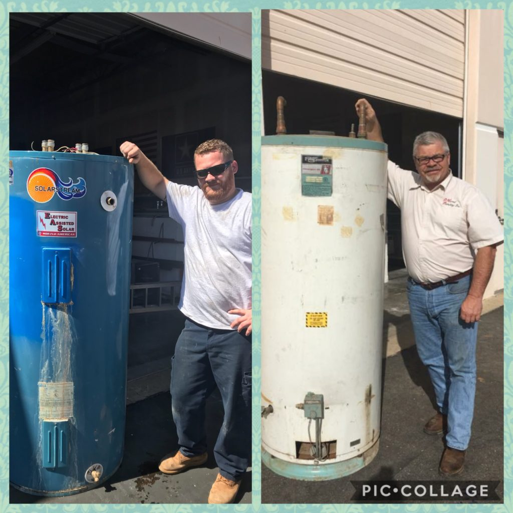 d martel plumbing water heater replacement