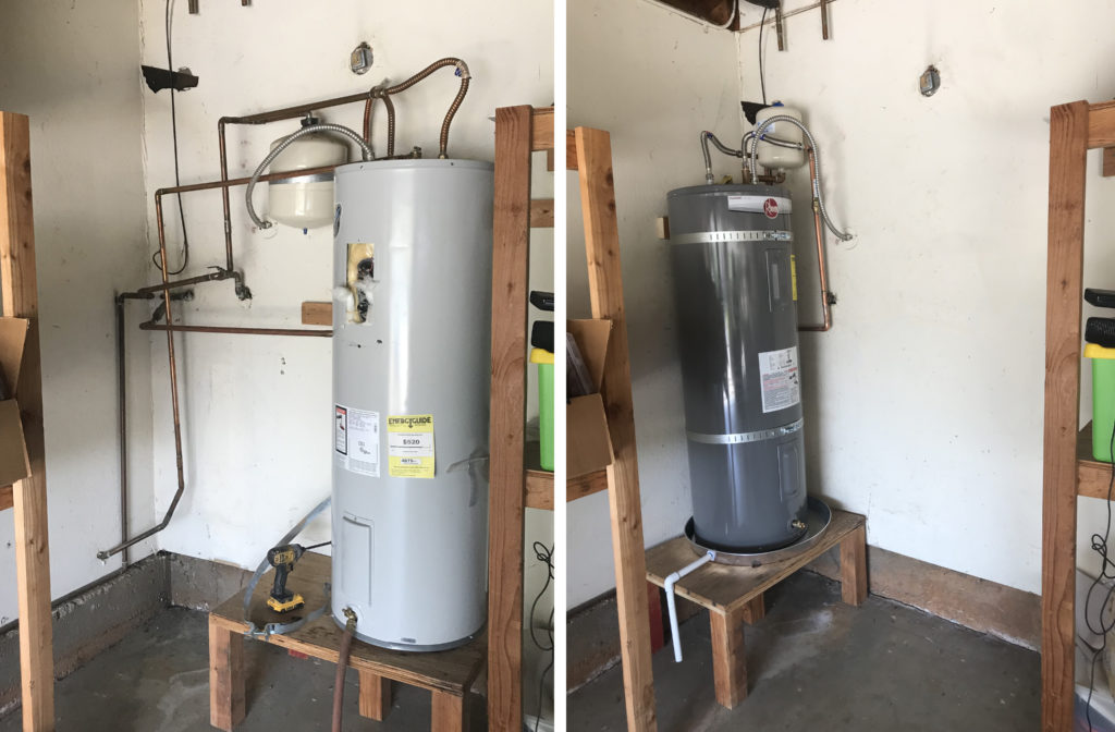 d martel plumbing water heater replacement before and after
