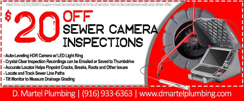 Sewer Camera Inspection Coupon